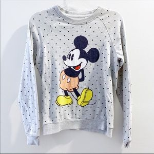 Disney Mickey Mouse Polka Dot Sweatshirt